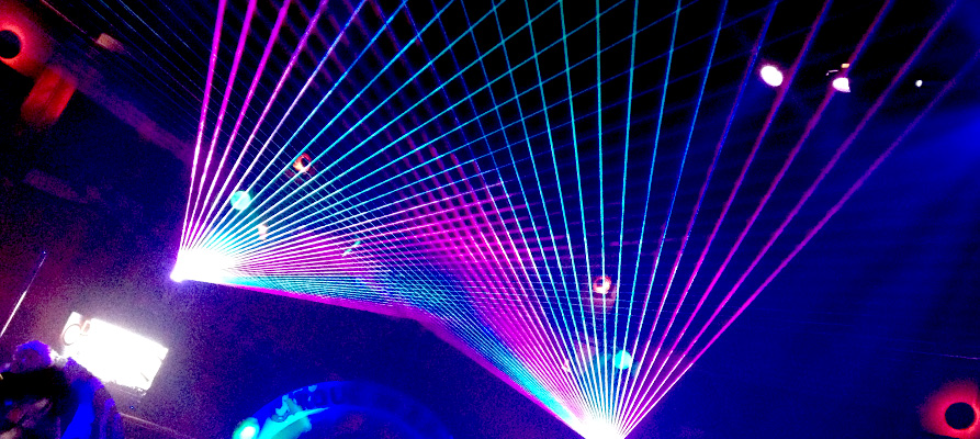 Boston Lasers Shows AT Cirque De Rage
