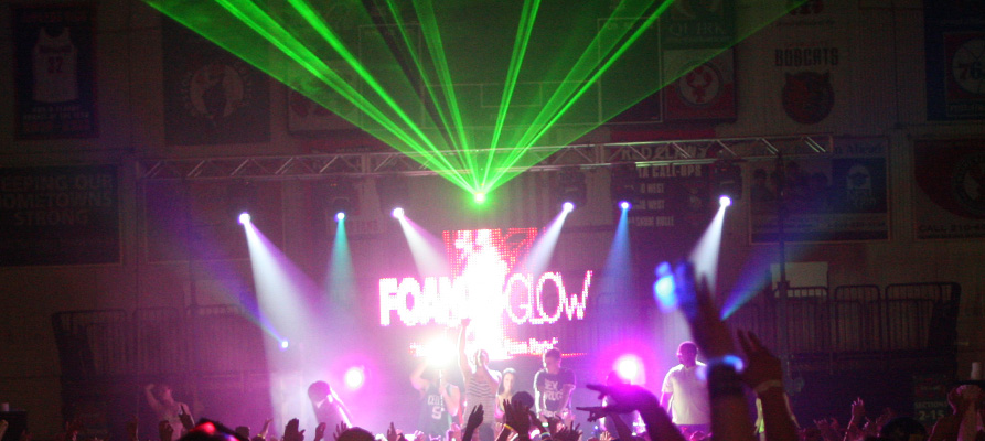 Boston Laser Shows AT Foam N' Glow